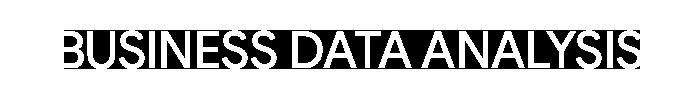 business-data-analysis Homepage